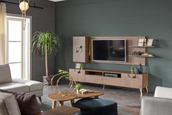 INFINITY - Panou TV cu comoda si corp vertical ALFEMO