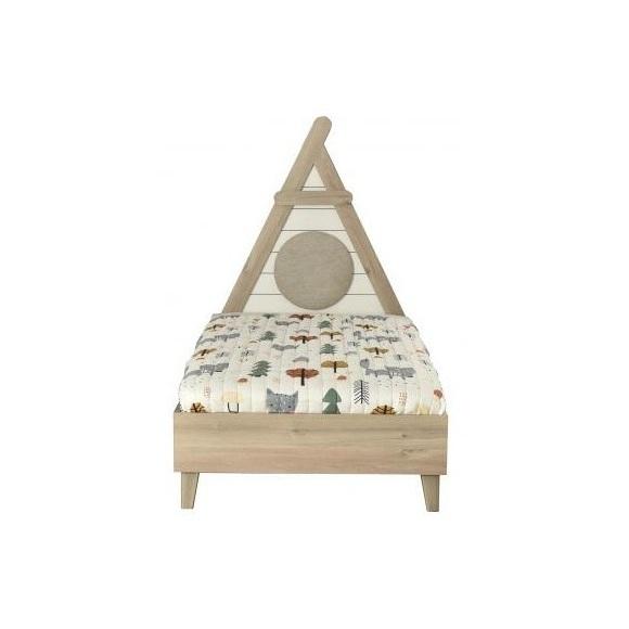 Pat de copii cu tablie triunghi ALFEMO